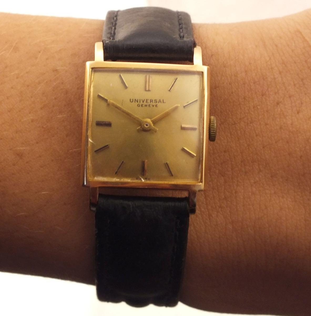a85842382a3 relógio feminino de pulso universal geneve ouro rose j8207. Carregando zoom.