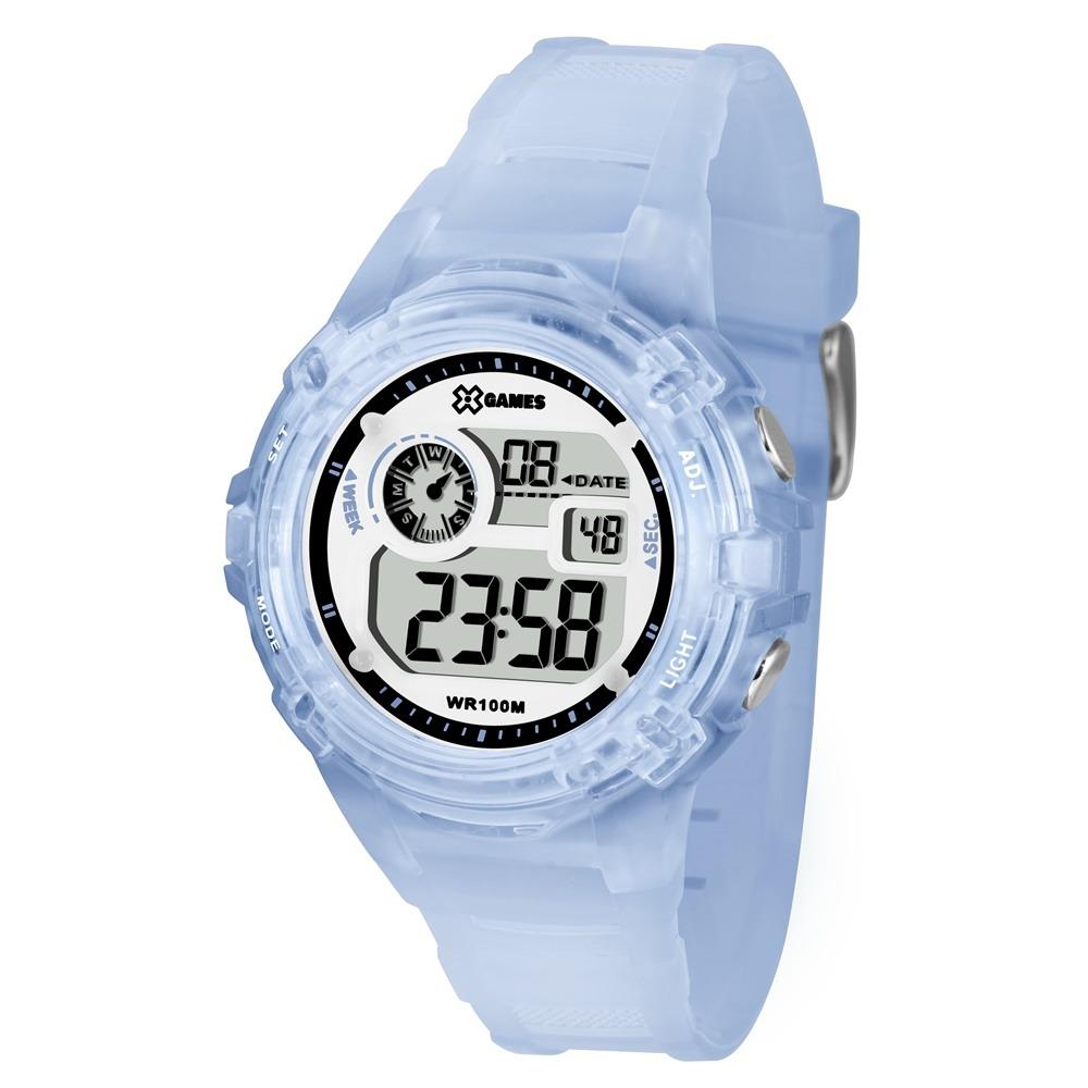 5b70584c87f relogio feminino digital azul claro esportivo x-games xfppd0. Carregando  zoom.