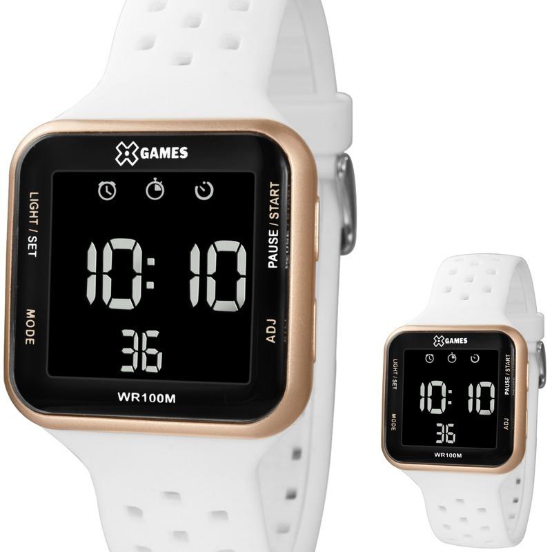 relógio feminino digital branco rosê x games xgppd094 pxbx. Carregando zoom. 89cbd6c1f1