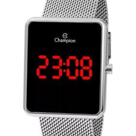 Relógio Feminino Digital Champion Prateado Quadrado Ch40080t
