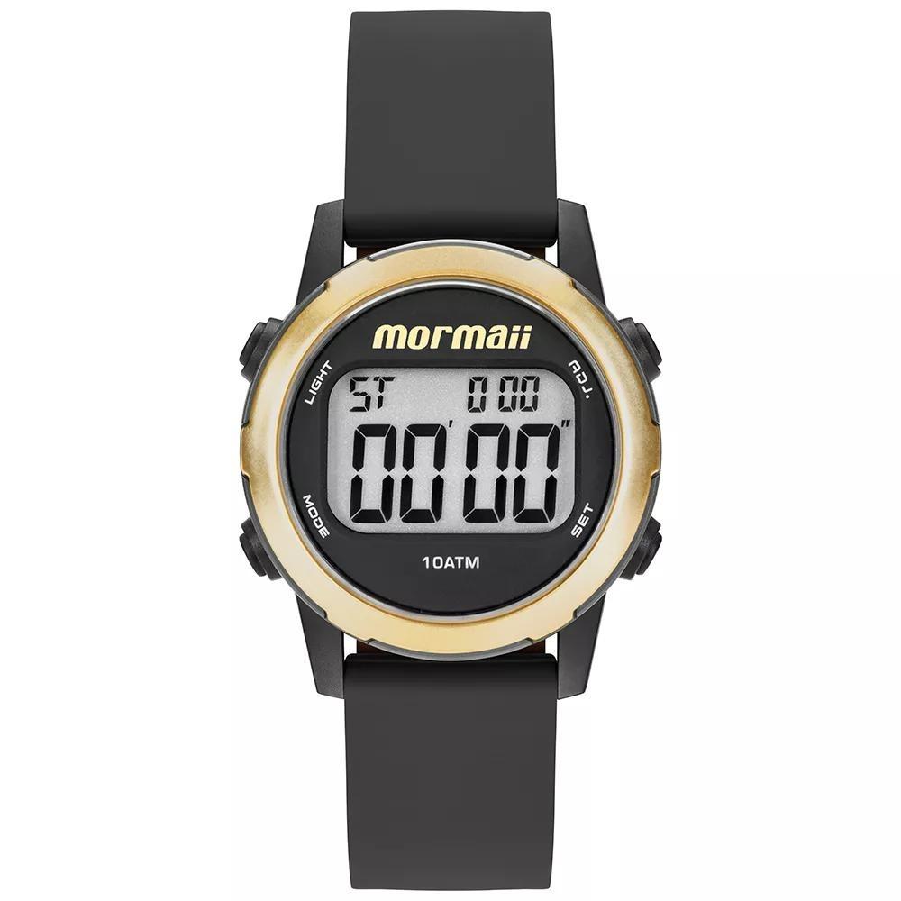 27230db601076 relogio feminino digital esportivo preto com dourado mormaii. Carregando  zoom.