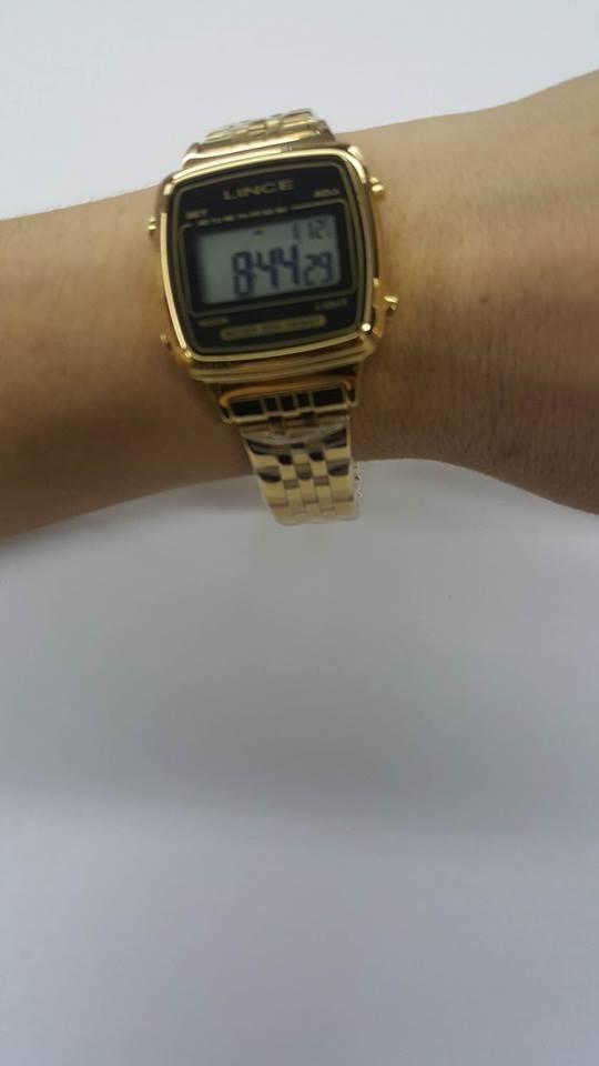 b6681578f68 relógio feminino digital lince dourado sdph041l bckx. Carregando zoom.