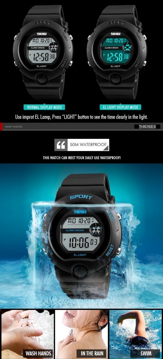 b821ed9849d relógio feminino digital skmei 1334 á prova d água original. Carregando zoom .
