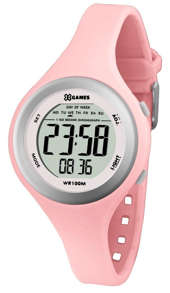 7ed9dce16d8 relógio feminino digital x-games rosa e prateado xfppd037. Carregando zoom.
