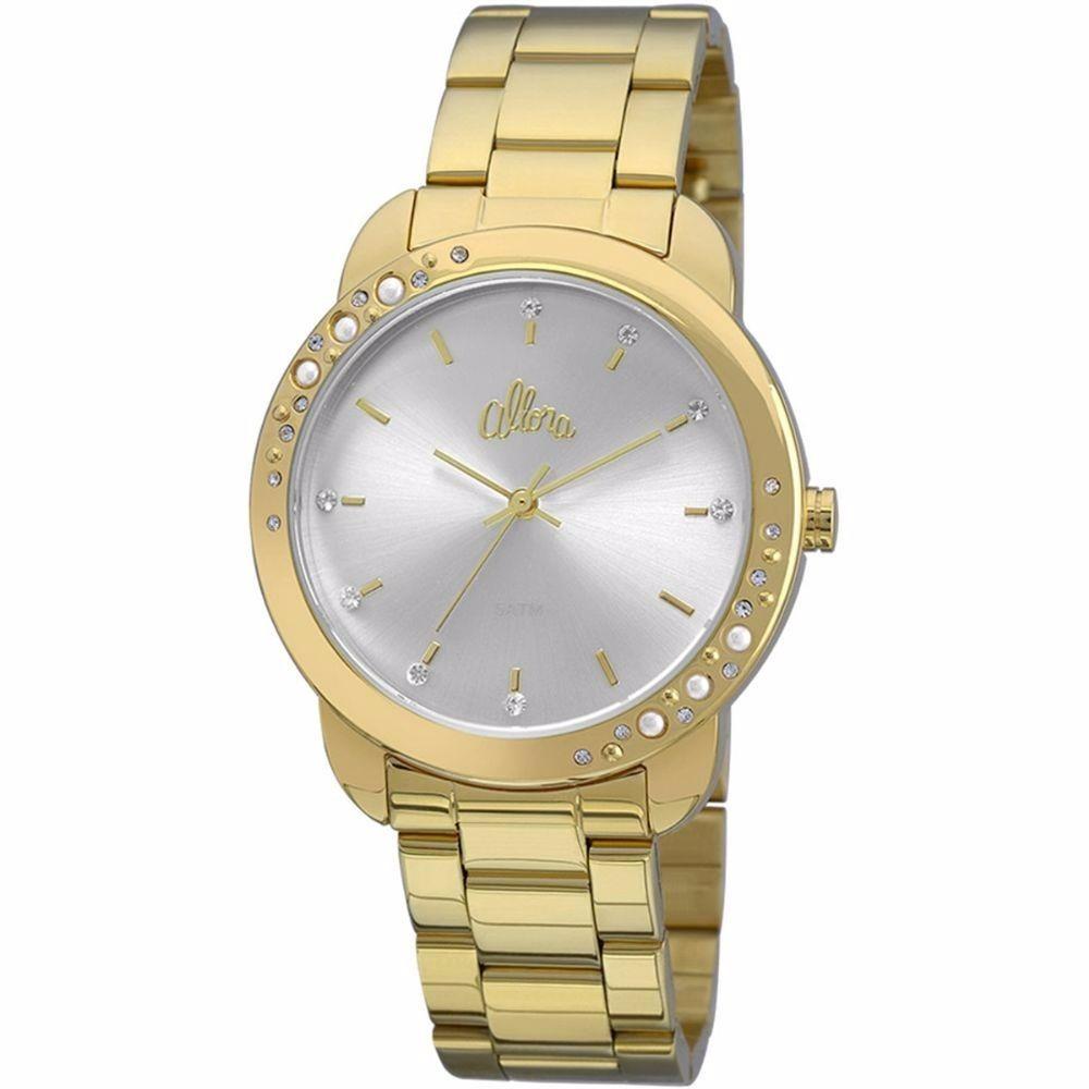 52c9daf0f8075 Relógio Feminino Dourado Allora - R  245,90 em Mercado Livre