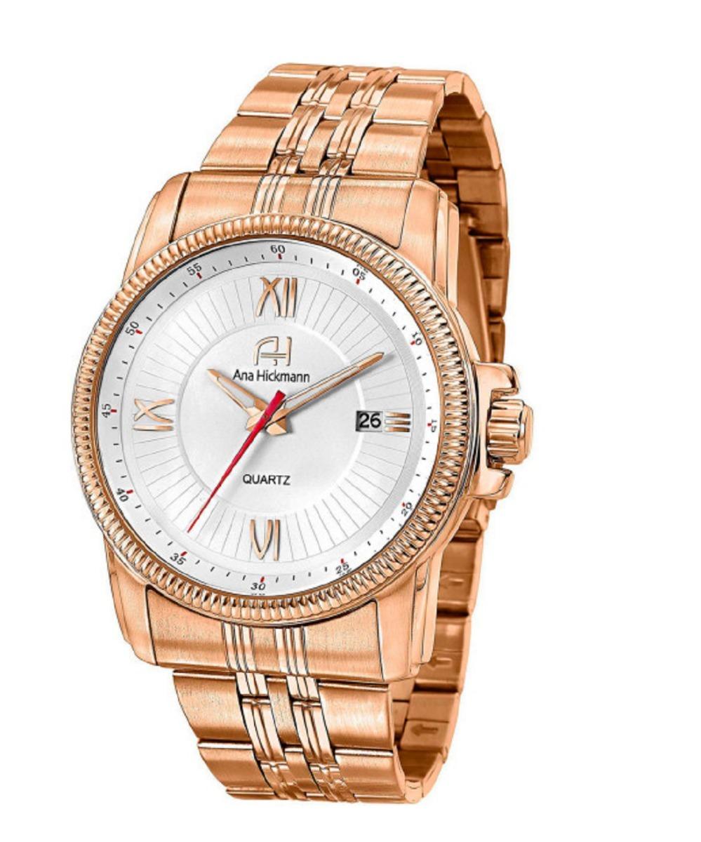 e87ca405719 relógio feminino dourado ana hickmann analogico. Carregando zoom.