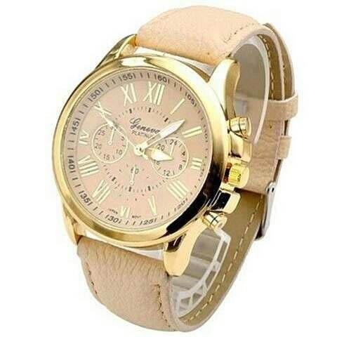 0811d86d105 Relógio Feminino Dourado Barato E Simples Couro Promoção - R  59