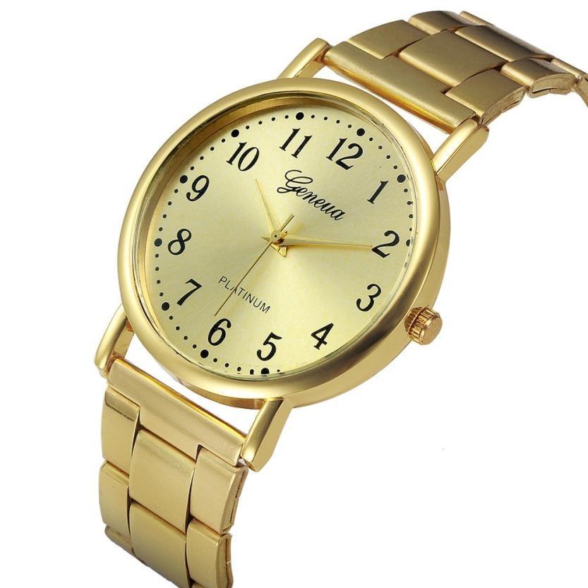 067e3d95d41 relógio feminino dourado barato promoção + brinde. Carregando zoom.
