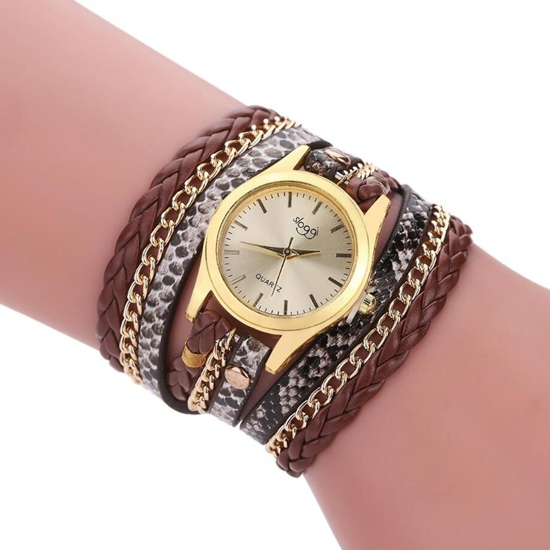 f151aac4a13 relógio feminino dourado bracelete pulseira couro barato. Carregando zoom.