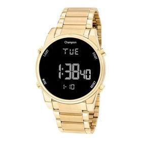Relógio Feminino Dourado Champion Digital A Prova D Àgua