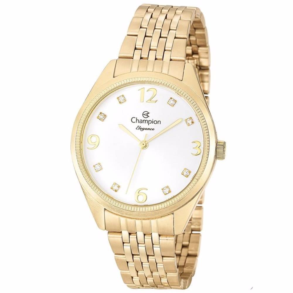 e784d60e52d relógio feminino dourado champion elegance cn26251h. Carregando zoom.