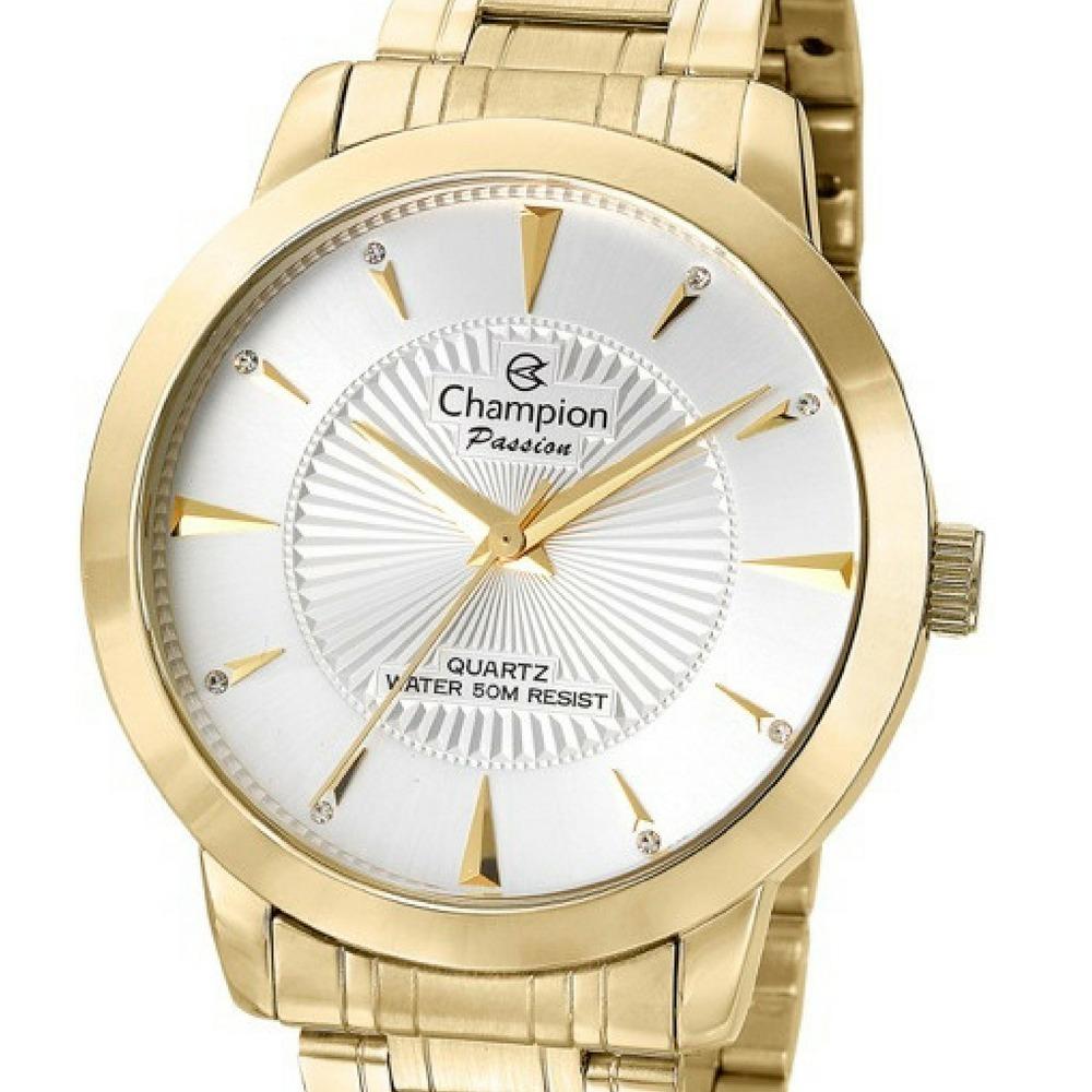 a514fdee2e4 Relógio Feminino Dourado Champion Grande P  D água Cn29258h - R  182 ...