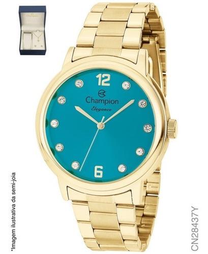relógio feminino dourado champion original