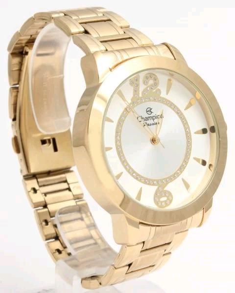 3d73b8ecbef Relógio Feminino Dourado Champion Original Ch24259h - R  142