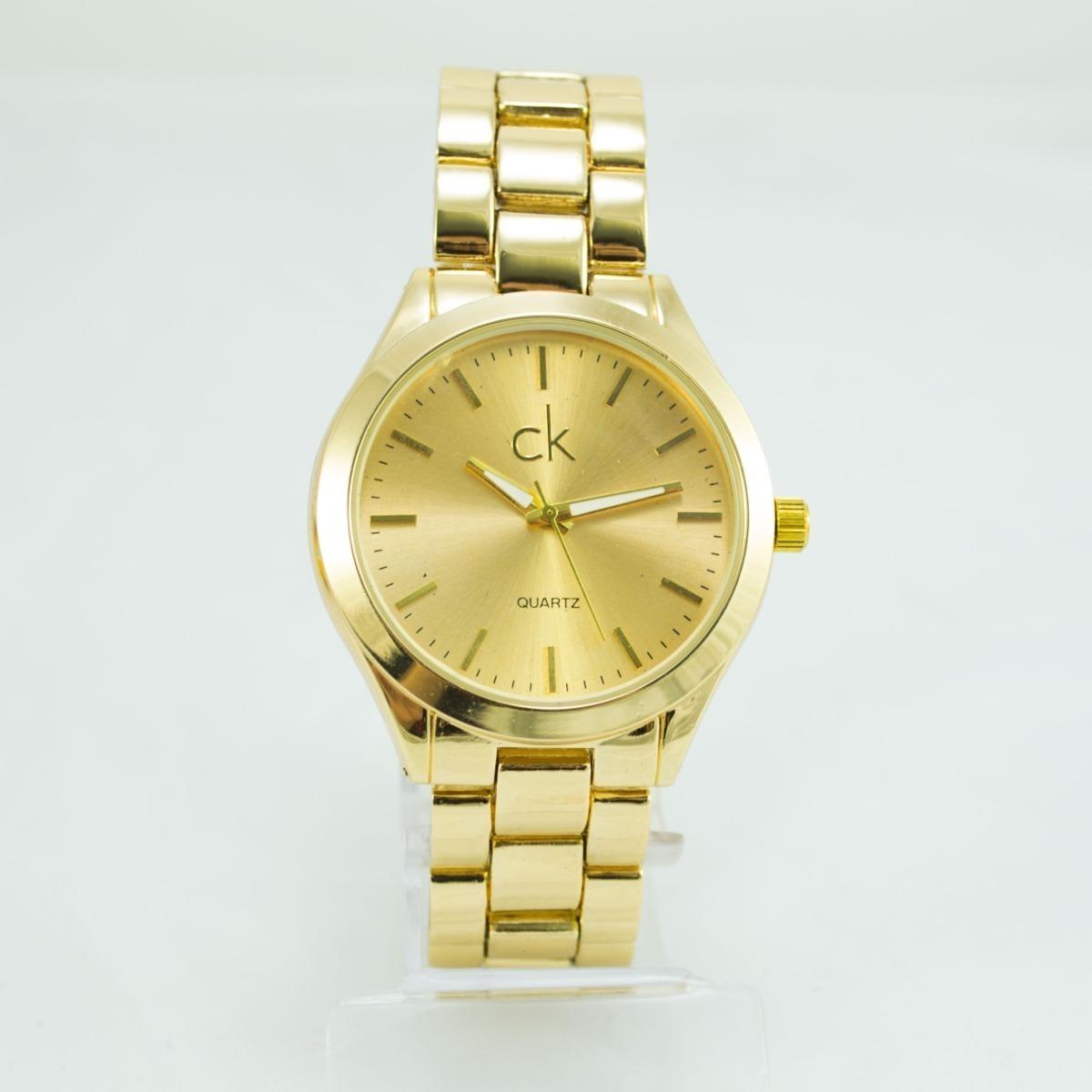 6c8b997478 relógio feminino dourado ck barato promoção kit + caixa. Carregando zoom.