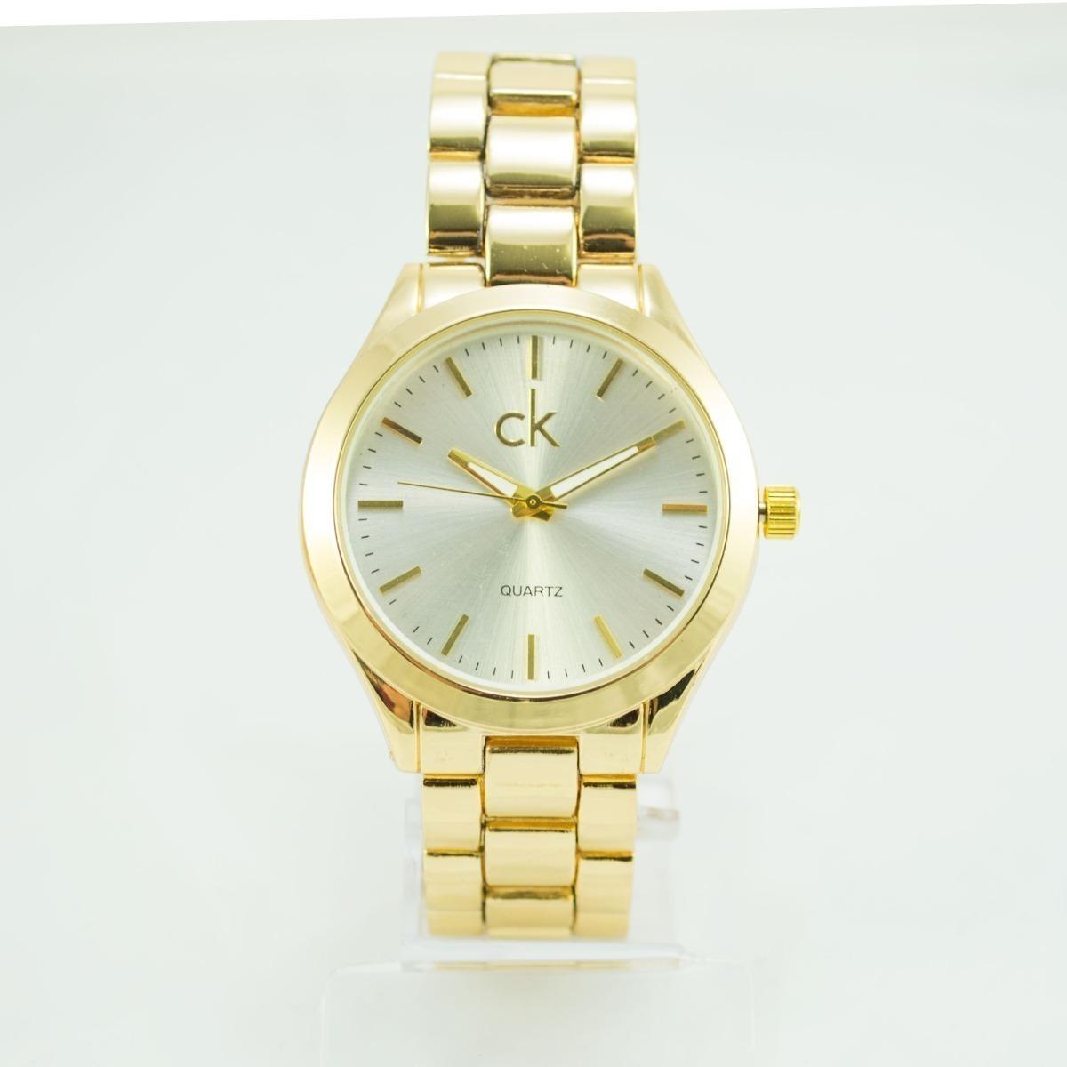 6ea911af87 relógio feminino dourado ck barato pulso promoção + caixa. Carregando zoom.