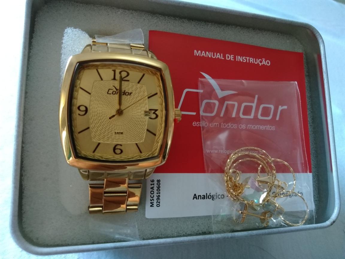 339c85a616e relogio feminino dourado condor kit joia ref-co2115uo k4d. Carregando zoom.
