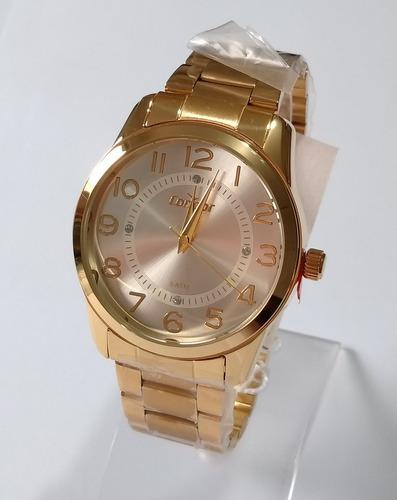 relógio feminino dourado condor original co2039ab/k4k.