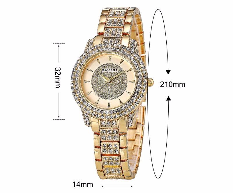 f6ec6a0f506 relógio feminino dourado cor ouro pequeno luxo barato. Carregando zoom.