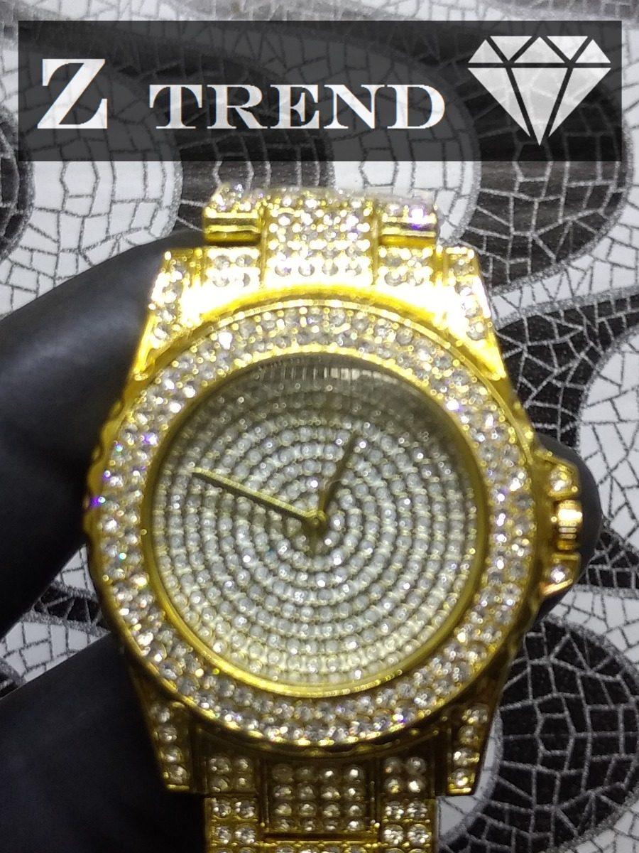 28b10b164c8 relógio feminino dourado cravejado (veja o video ). Carregando zoom.
