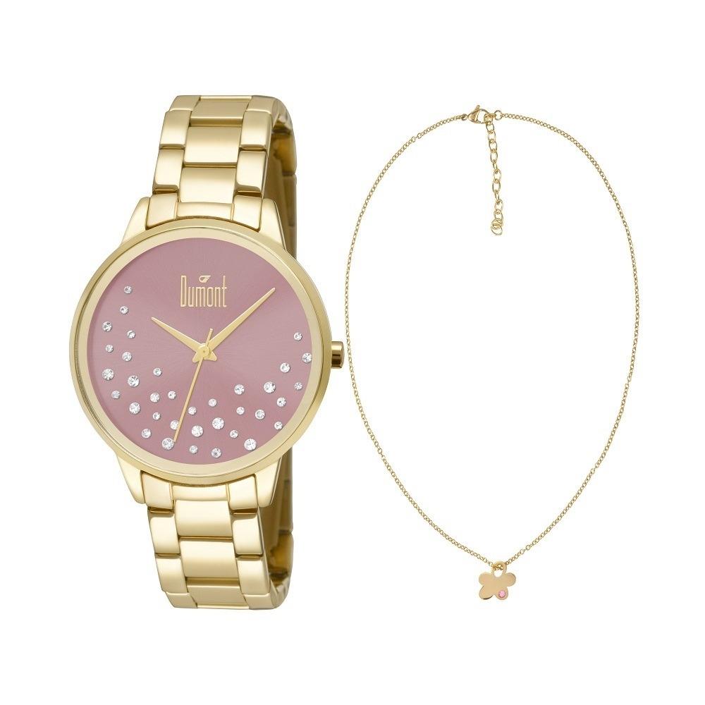 cc6f85c82d6 Relógio Feminino Dourado - Du2036lsq k4t Dumont Original - R  369