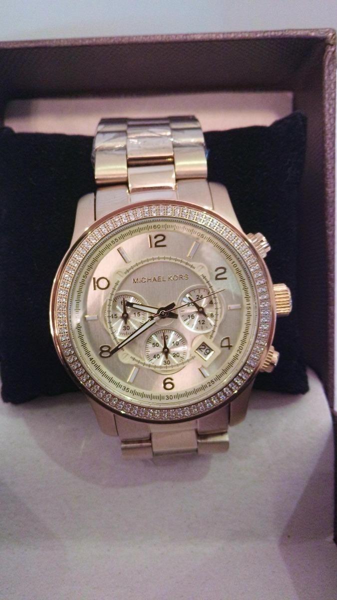 relógio feminino dourado e brilhantes michael kors mk5575. Carregando zoom. cddf6eb593