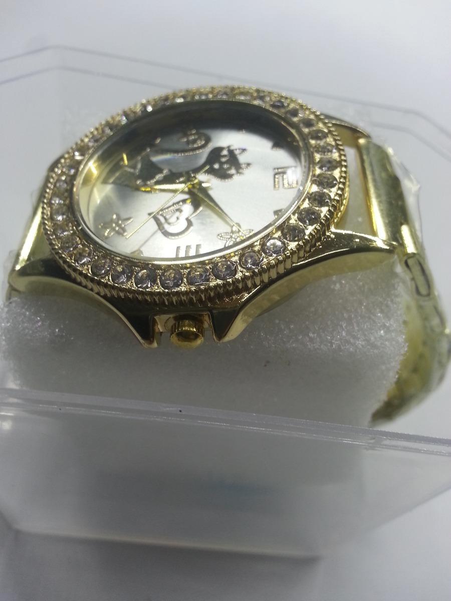 3bfbd93ec18 relógio feminino dourado fundo prata strass lindo. Carregando zoom.