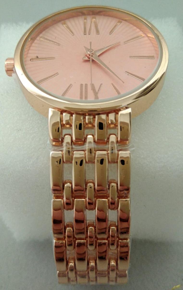 1afb2f762bc relógio feminino dourado gold rose rosa estiloso analógico. Carregando zoom.