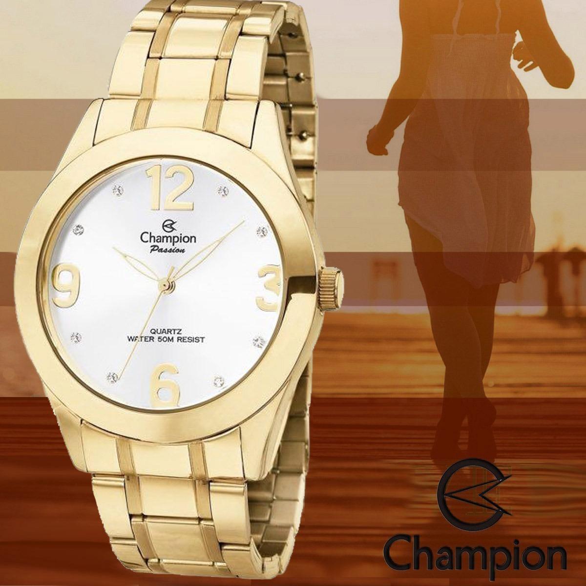 f371f98940a Relógio feminino dourado grande champion lindo carregando zoom jpg  1200x1200 Ch24268h relogio feminino dourado champion
