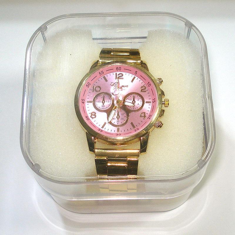 1fea349a84b relogio feminino dourado grande visor rosa c  caixa promoção. Carregando  zoom.