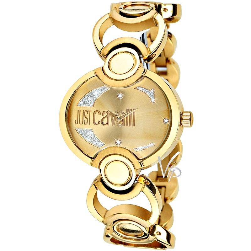 78ab1406833 Relógio Feminino Dourado Just Cavalli Italy Ouro Luxo Mk - R  969