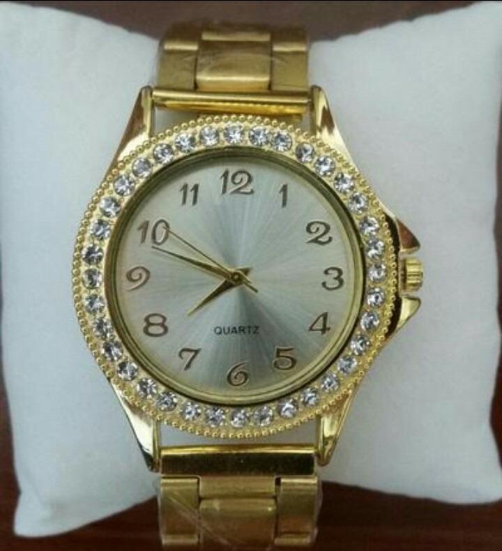 767015ab5d4 Relógio Feminino Dourado Lindo