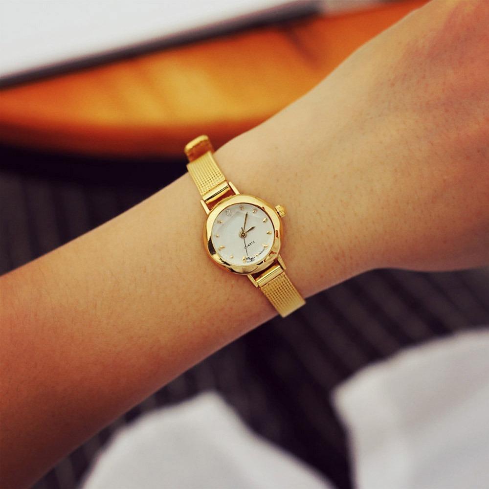 f2cda1d7f58 relógio feminino dourado lindo barato promoção! Carregando zoom.
