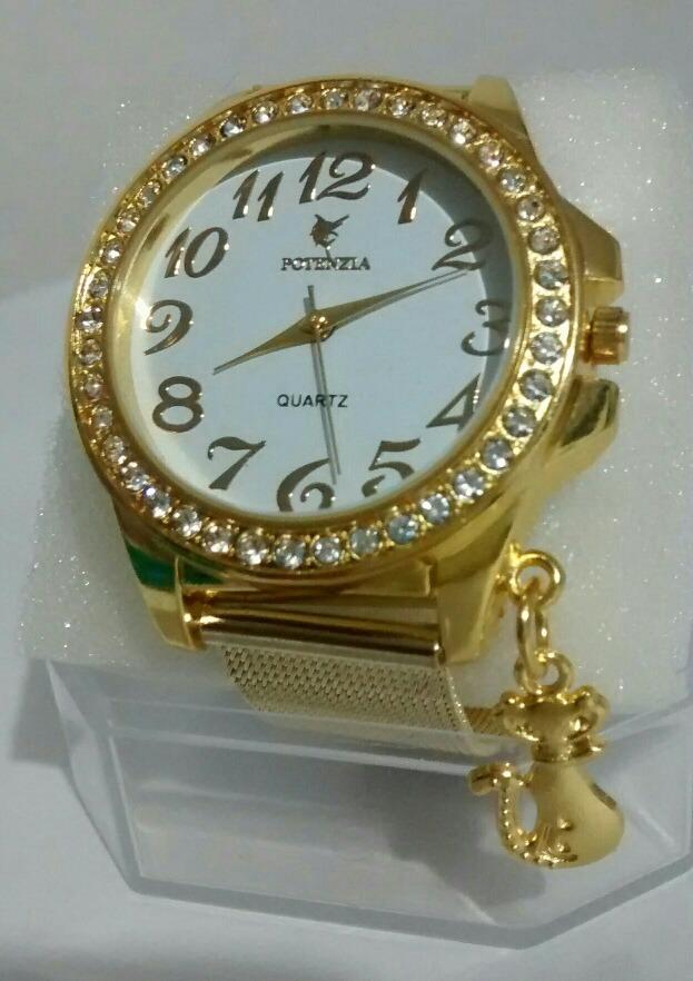 7e40097152f relógio feminino dourado luxo delicado para mulheres lindas. Carregando zoom .