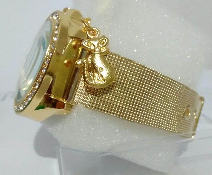b0bb387b8e9 relógio feminino dourado luxo delicado para mulheres lindas. Carregando zoom .