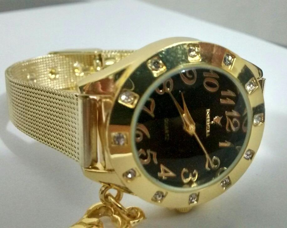 9428d3d67b4 relógio feminino dourado luxo para mulheres lindas. Carregando zoom.