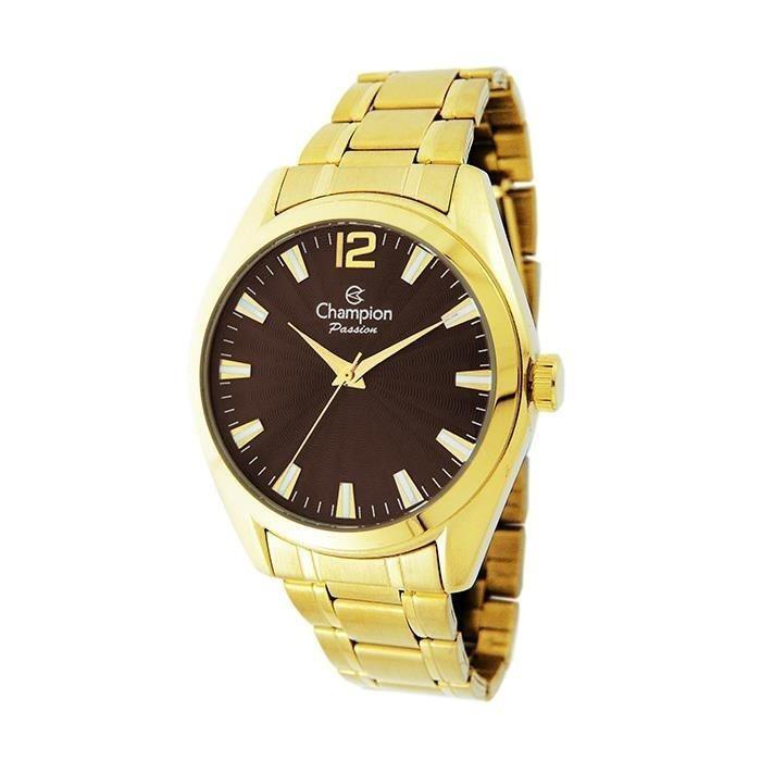 dc33282fd4b Relógio Feminino Dourado Modal Atual Champion Original 2018 - R  213 ...