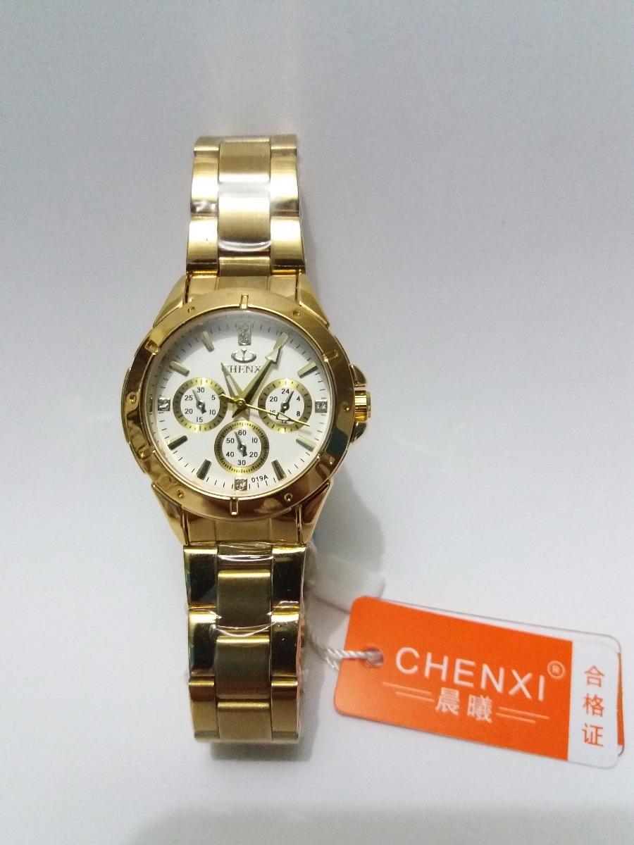 2d33e0735cb relógio feminino dourado natate chenxi original luxo barato. Carregando zoom .