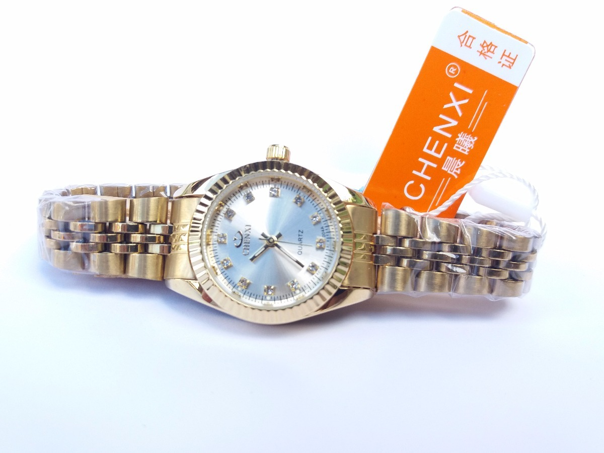 5c31fa4414d relógio feminino dourado natate chenxi original luxo + frete. Carregando  zoom.