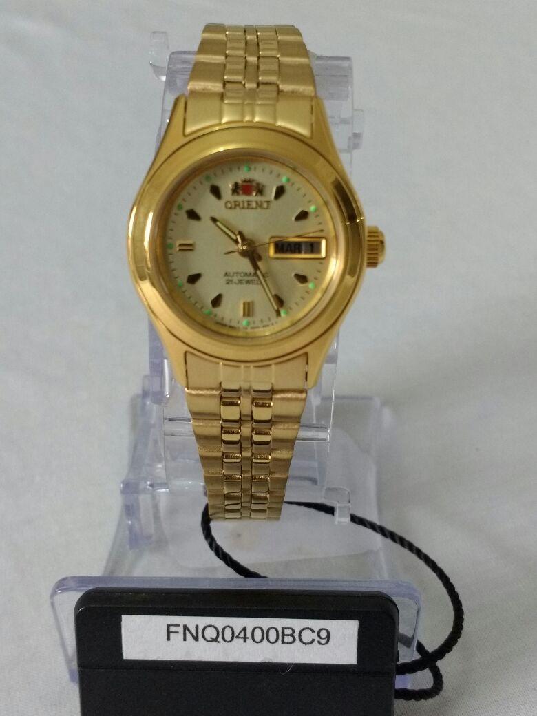 Relógio Feminino Dourado Orient Automático Fnq0400bc9 - R  429,90 em ... f8acb425d4