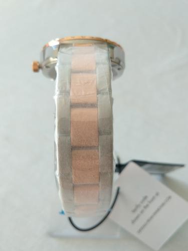 relogio feminino dourado orient ftss1118 swarovski original.
