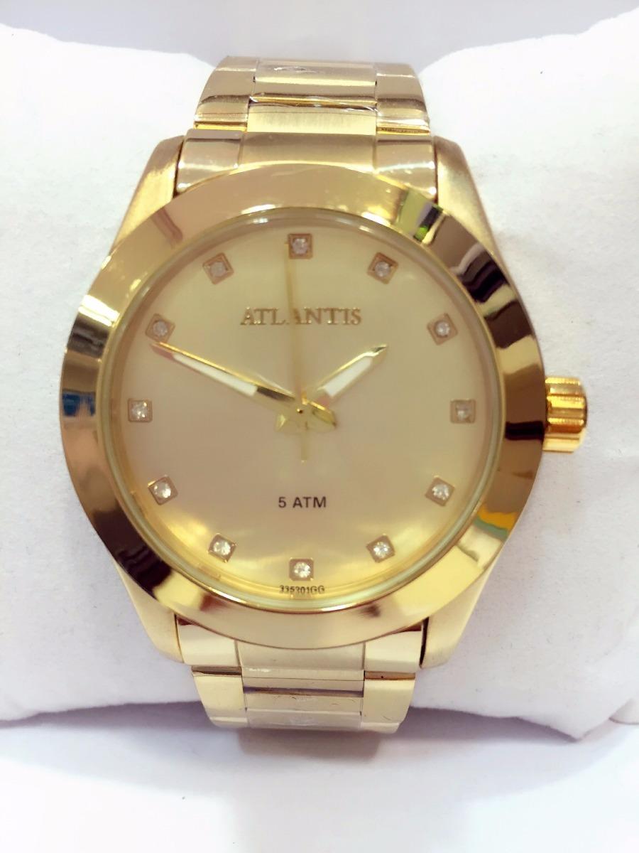 59ca60c2e66 Relógio feminino dourado original strass atlantis frete carregando zoom jpg  900x1200 Relogio feminino dourado