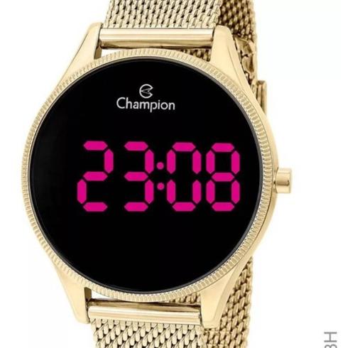 relógio feminino dourado ouro 18k champion a prova d'água