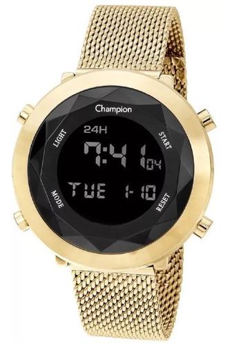 relógio feminino dourado ouro 18k champion lançamente