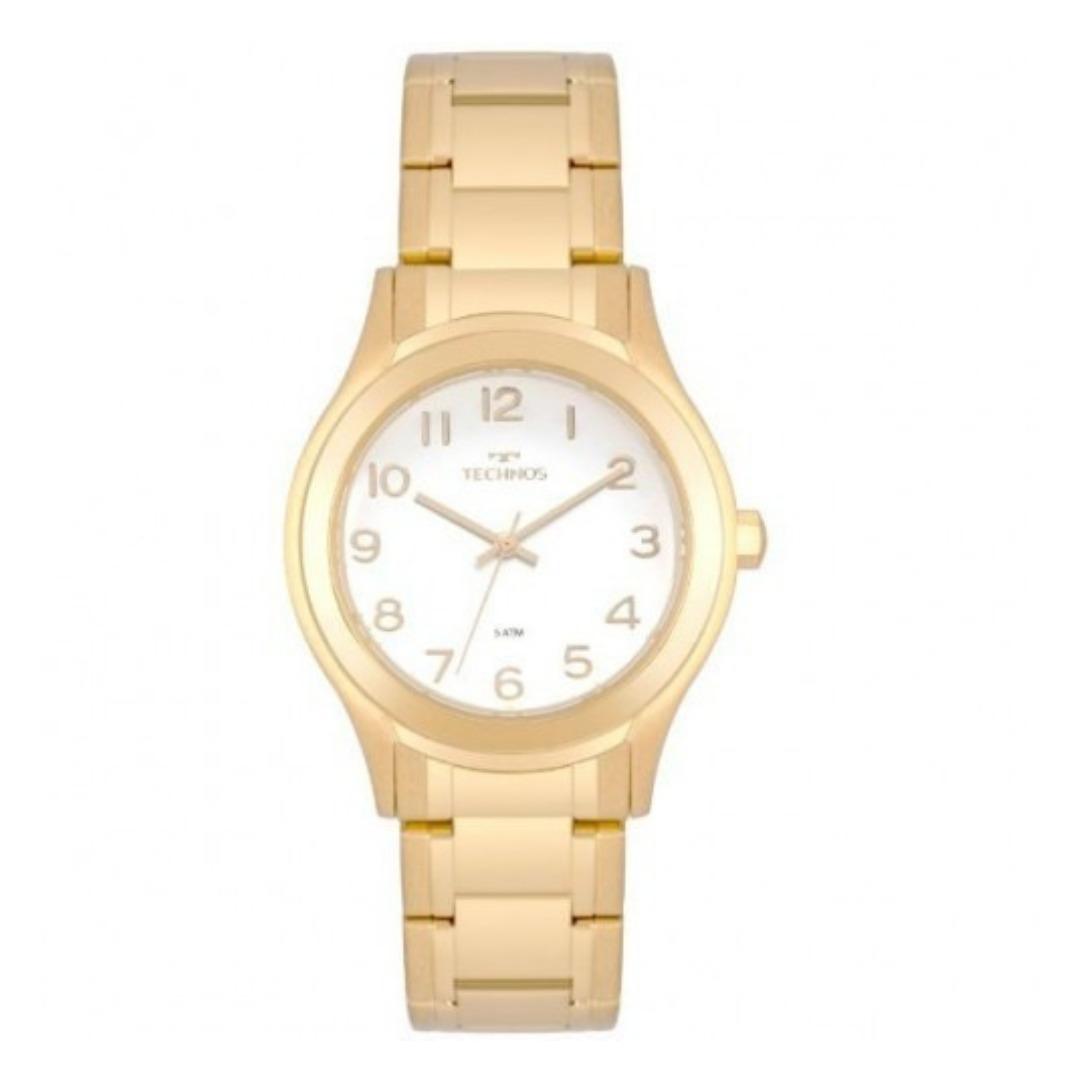 6b16fb9e683 relógio feminino dourado pequeno technos 2035mon 4b. Carregando zoom.