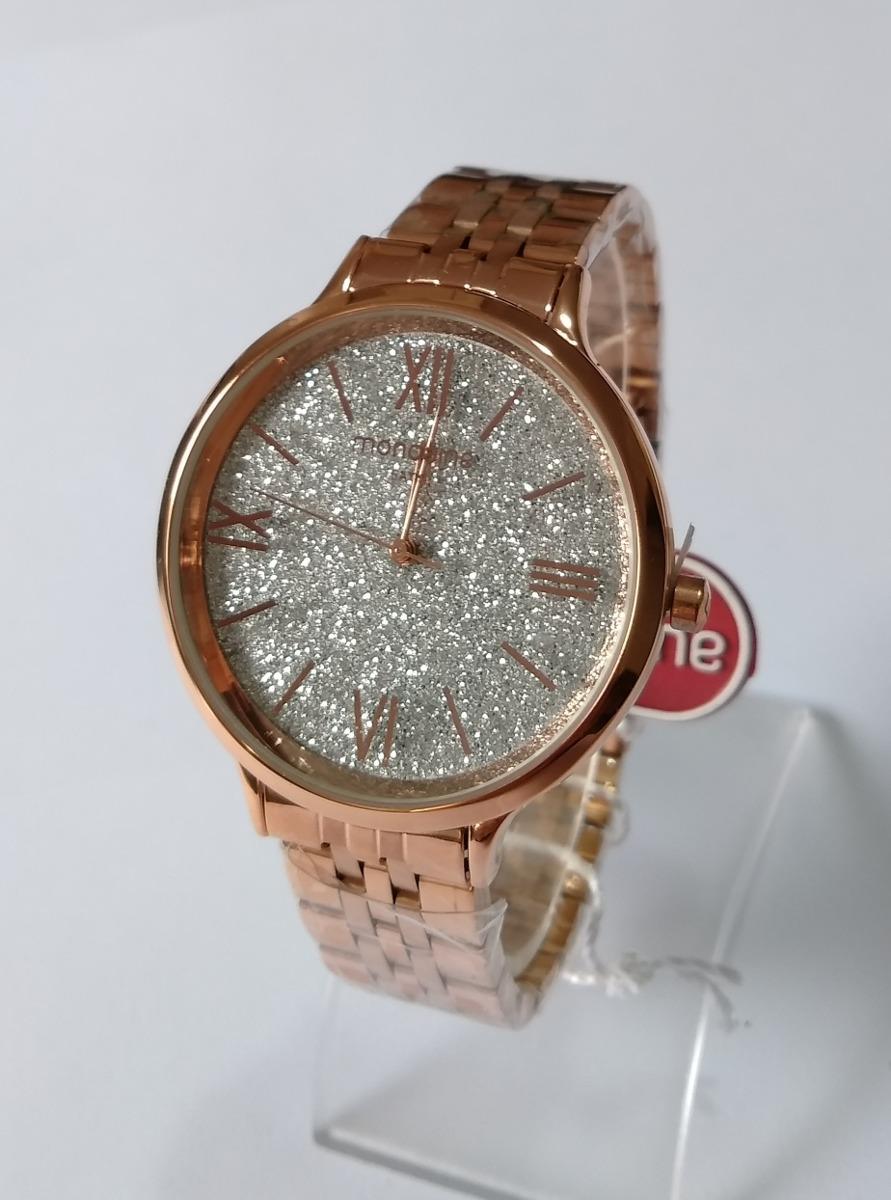 dc37af8de8f3e relógio feminino dourado rose mondaine original ref53689lpmr. Carregando  zoom.