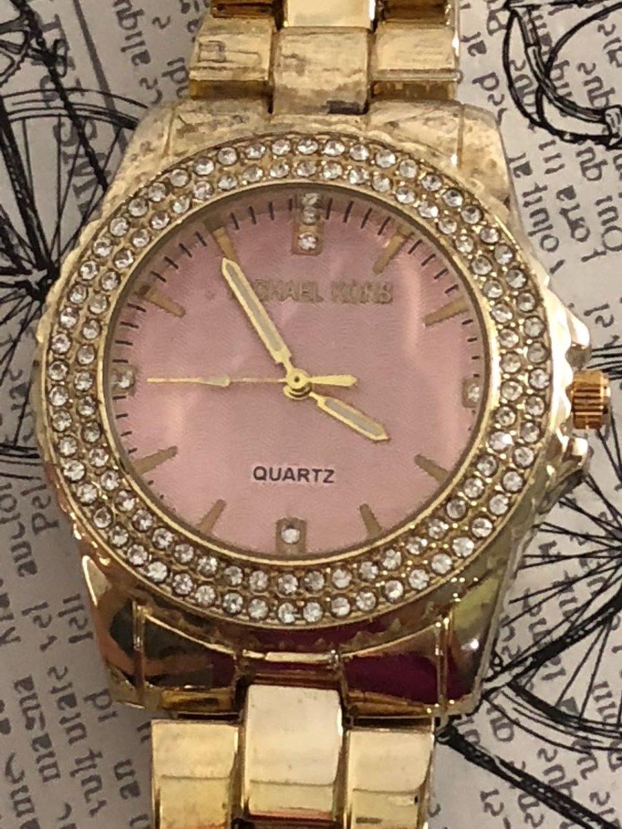 5fe3785b818 relógio feminino dourado strass barato mk lindo top!!! Carregando zoom.