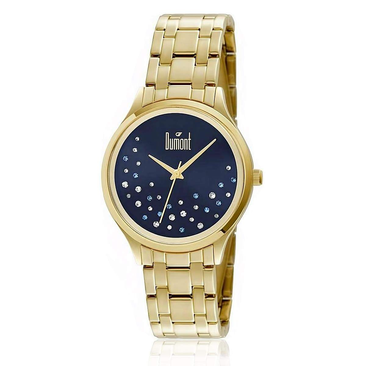 Relógio Feminino Dumont Analógico Du2036lst 4a Dourado - R  184,00 ... 84c6118e83