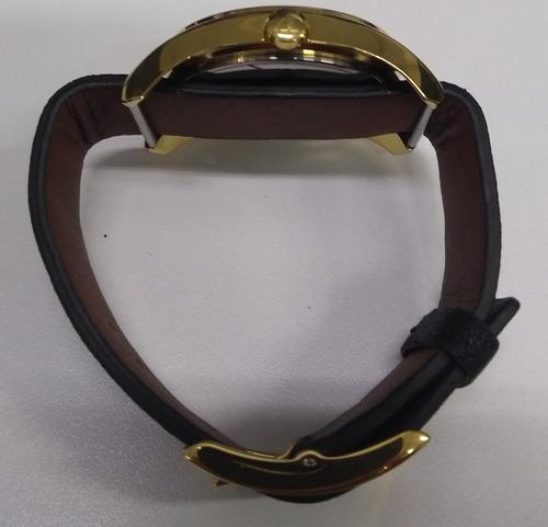 relógio feminino dumont analógico couro du2036lsm/3d vitrine