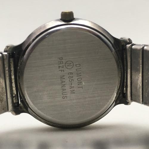 relogio feminino dumont em prata